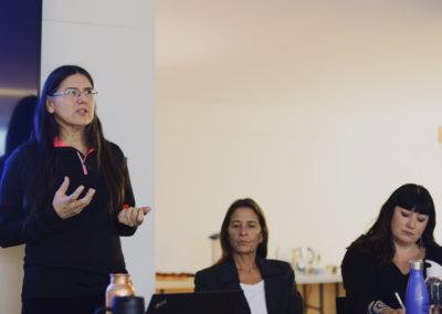 Deborah McGregor (left), Sue Chiblow (center), Aimee Craft (right).