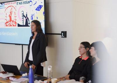 Sue Chiblow (left), Deborah McGregor (center), Aimee Craft (right).