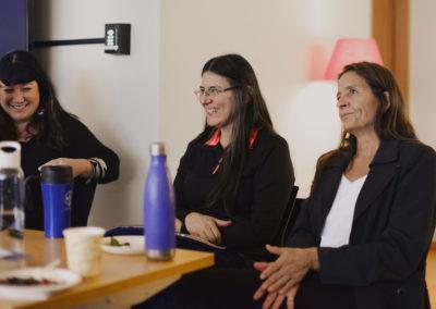 Aimee Craft (left), Deborah McGregor (center), Sue Chiblow (right).